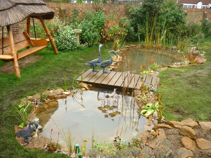 301 best images about garden ideas on pinterest gardens for Fish ponds for small gardens