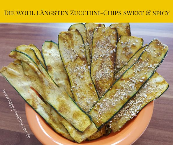 Zucchini-Chips sweet & spicy  - happy-healthy-raw - Ganzheitlich gesund mit Jen Fuchs