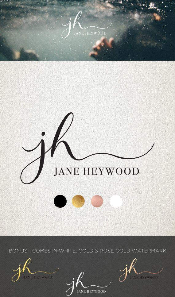 Premade Logo #Design - Modern Calligraphy Font - Hand…