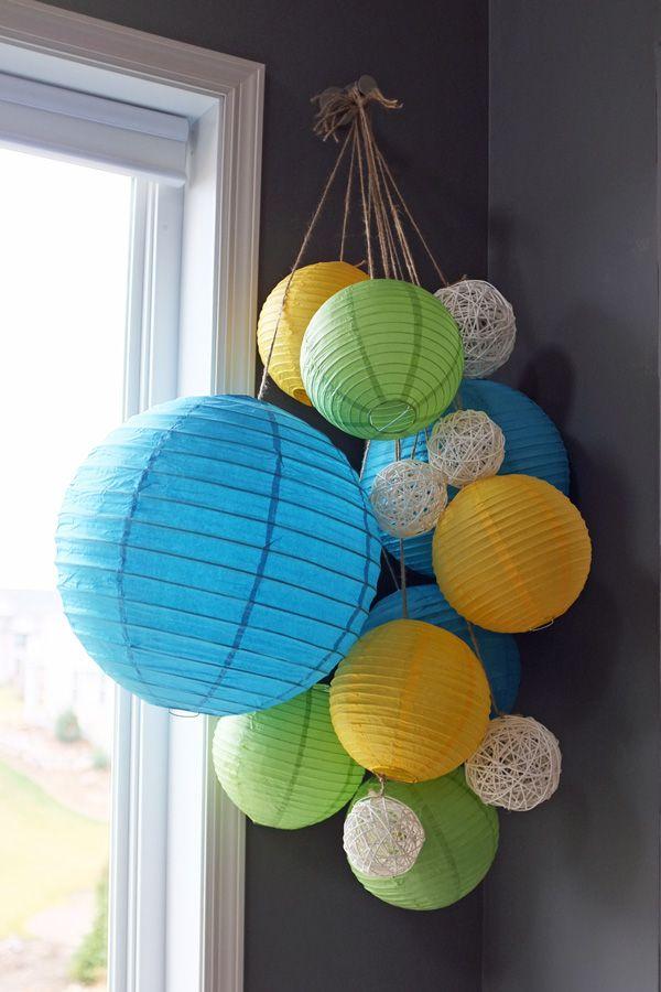 Paper Lanterns last longer than balloonsChine Paper, Guest Room, Paper Lanterns, Paper Hanging, Kids Room, Master Bedrooms, Parties Ideas, Hanging Lanterns, Lanterns Choo
