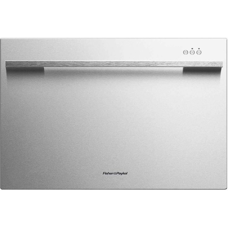 Fisher DD24SDFX7 24 Single Drawer Dishwasher (Option), Silver Stainless Steel