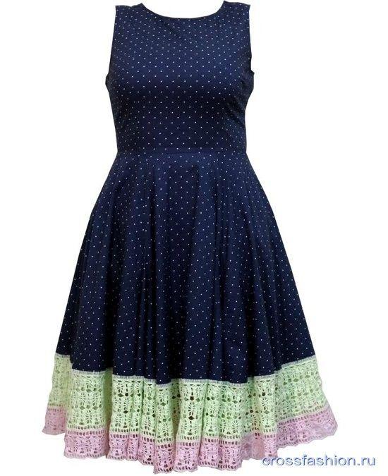 857bda4010f Как удлинить платье или юбку крючком