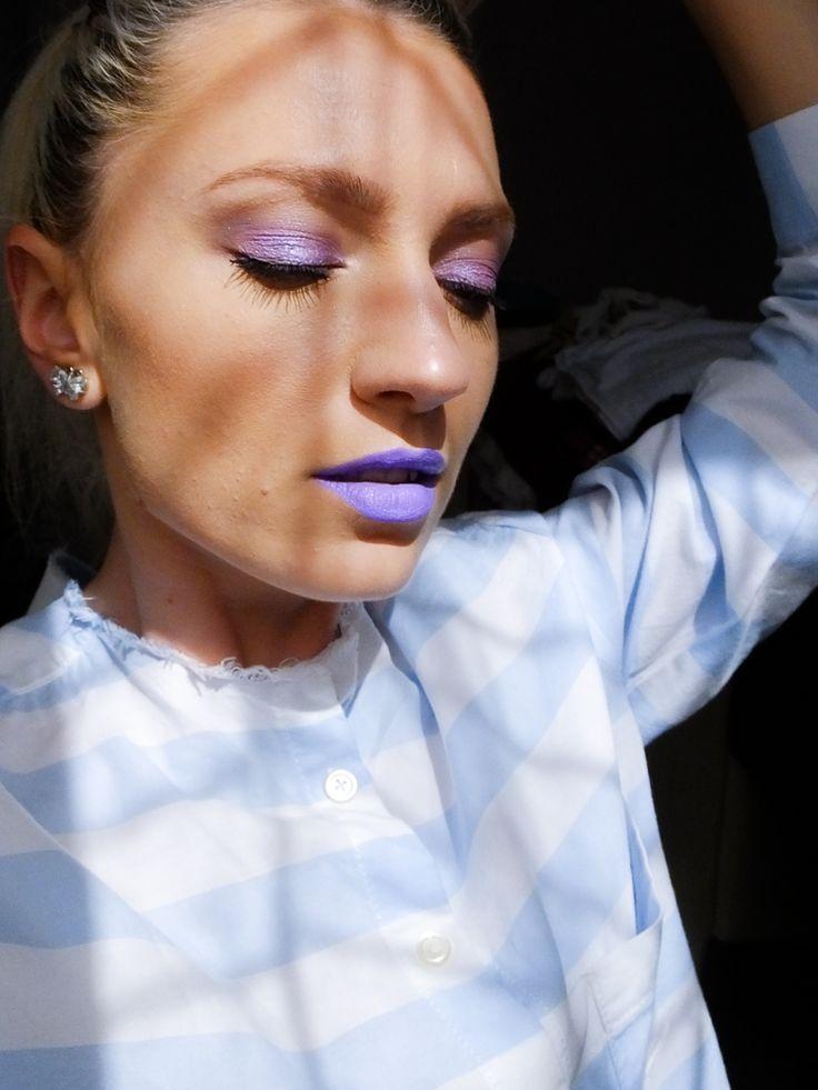 all purple, purple makeup, lilac makeup, lilac, maquillaje, maquillaje lila, lila,