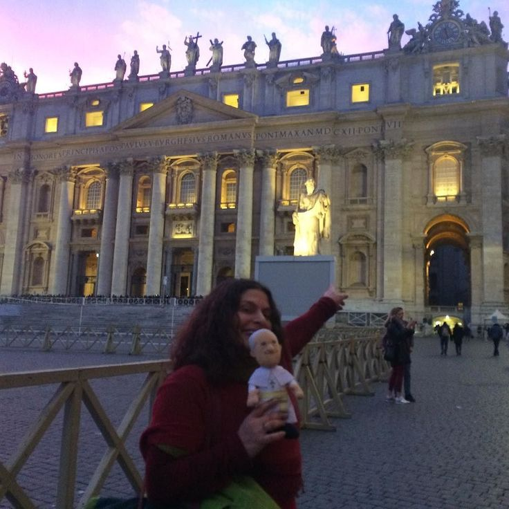 Pope Francis in front if his home :)