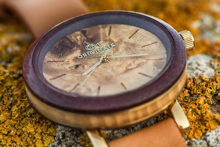 Purple Heart 42mm Crafted with Purple Heart Wood and Mykonian Driftwood