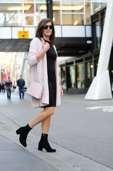0ffe8f39ccb Long Pink Cardigan LBD Black Dress Pink Cardi  How To Wear A Long Cardigan   How To Add Something Extra To A LBD  Staple Black Boots  How To Pull Off  Pink  ...