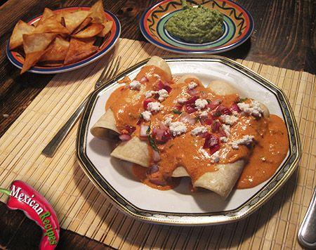 rosé sauce enchiladas