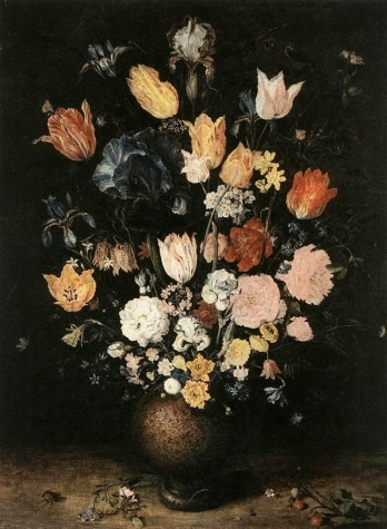 Brueghel, Jan the Elder - Bouquet of Flowers - Renaissance (Late, Mannerism) - Oil on wood - Still Life - National Gallery in Prague - Prague, Czech Republic