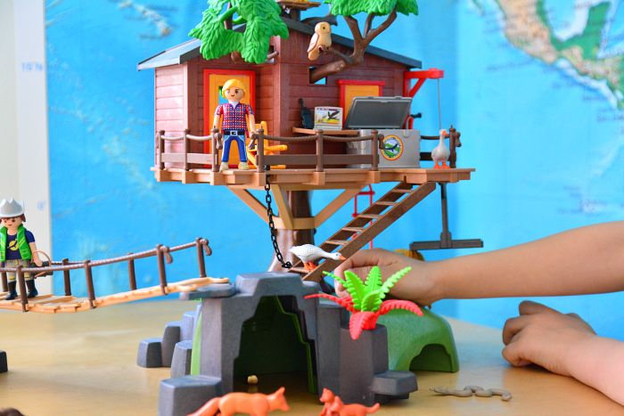 Pretend Play - Otis with Playmobil Adventure Treehouse