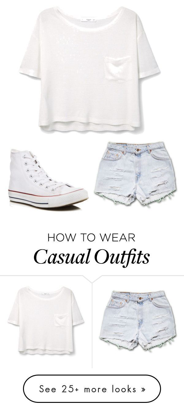 """Casual"" by emcpheethwaites22 on Polyvore featuring MANGO and Converse"