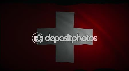 Switzerland Flag Footage — Stock Video © GoodArtPix #99557904