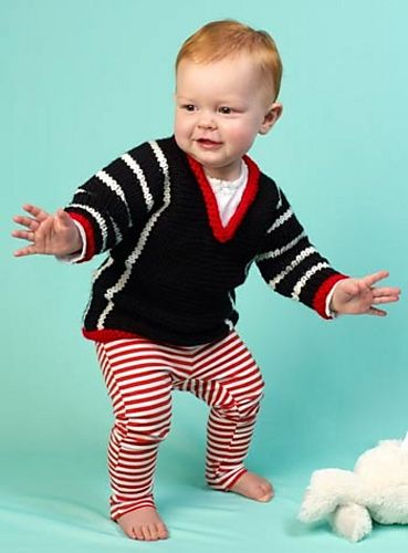 Ravelry: I Love Yarn Baby Sweater #LW3429 pattern by Lorna Miser