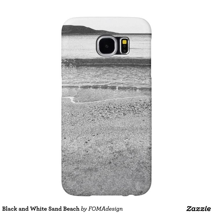 Black and White Sand Beach /  Samsung Galaxy S6 Case, by FOMAdesign