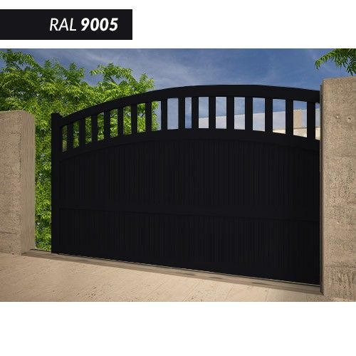 Portail EMALU CAMOTES coulissant -fabrication 100% aluminium. Une gamme de couleurs disponible BLANC - GRIS ANTHRACITE - BLEU - BORDEAUX - VERT - NOIR