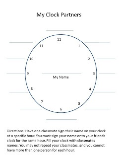 Differentiated Instruction-TAPS and Clock Partner Freebie
