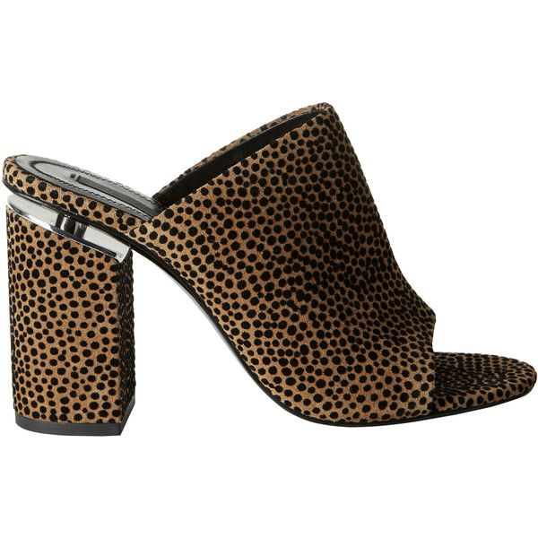 Avery Cheetah Mules ($550) ❤ liked on Polyvore featuring shoes, print, open toe shoes, mule shoes, block heel mules, open-toe mules and cheetah print shoes