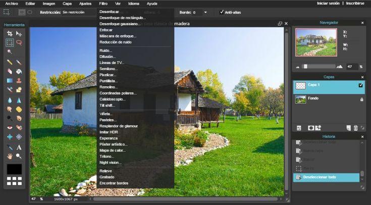 PIXLR, editor de imagen online gratuito