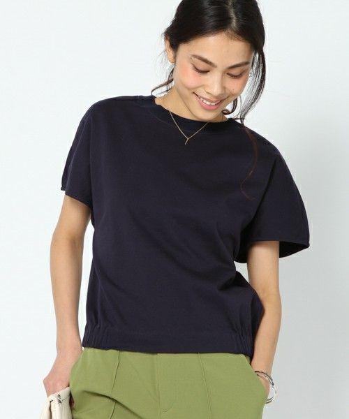 BARNYARDSTORM WOMEN(バンヤードストーム ウィメンズ)のBARNYARDSTORM / 裾タックプルオーバー(Tシャツ/カットソー)|ネイビー