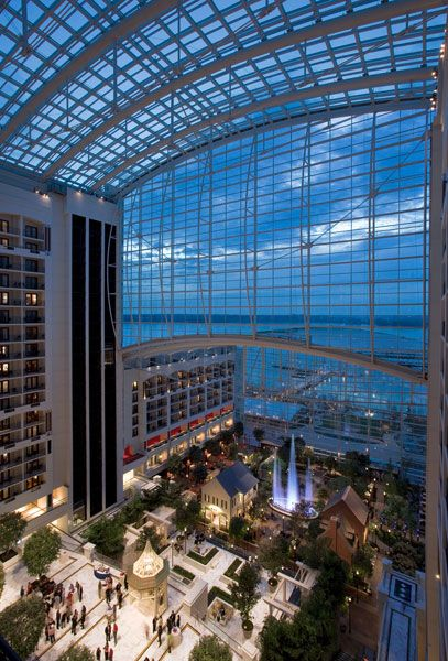 Gaylord National, Washington DC- I LOVE this place! The view of the Potomac is amazing!