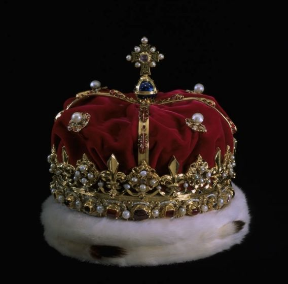 TheCrown of Scotlandis thecrownused at thecoronationof themonarchs of Scotland. Remade in its current form for KingJames VofScotlandin 1540, the crown is part of theHonours of Scotland, the oldest set ofCrown Jewelsin theUnited Kingdom. The crown dates from at least 1503 when, in an earlier form, it was depicted in the portrait ofJames IV of Scotlandin theBook of Hourscommissioned for his marriage toMargaret Tudor.