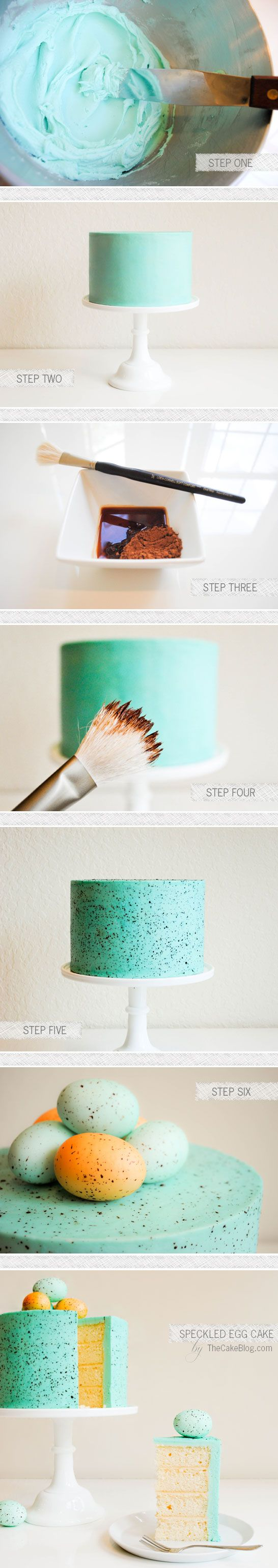 easter cake...love this...step by step...