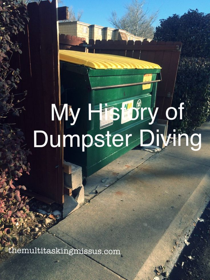 My History of Dumpster Diving
