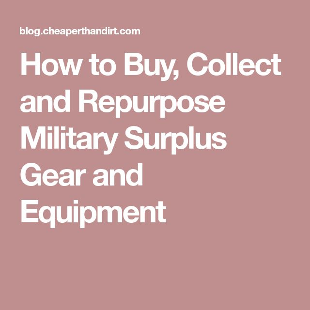 How to Buy, Collect and Repurpose Military Surplus Gear and Equipment