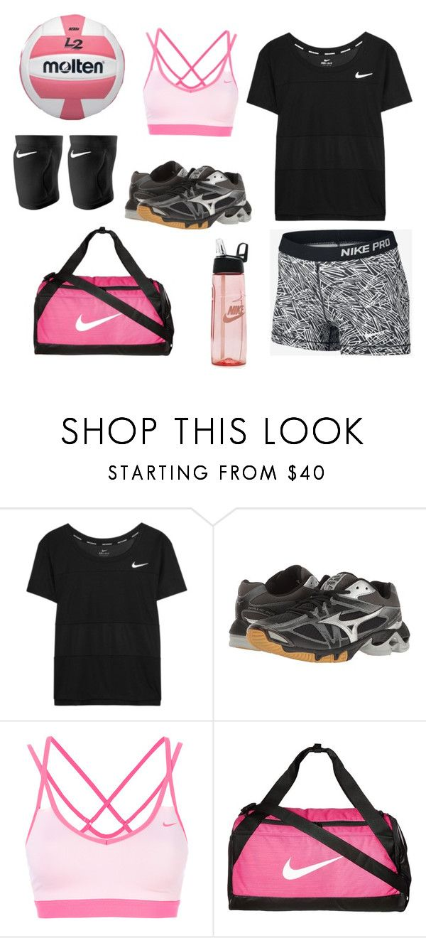"""""""Volleyball tryouts"""" by rbvb on Polyvore featuring NIKE and Mizuno"""