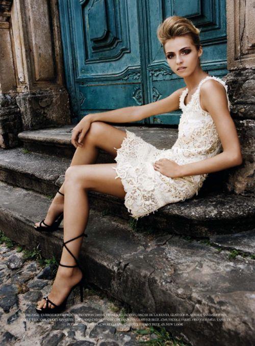 laceValentina Zelyaeva, Fashion, Street Style, Harpers Bazaars, June 2007, Grad Dresses, Bazaars Uk, The Dresses, Lace Dresses