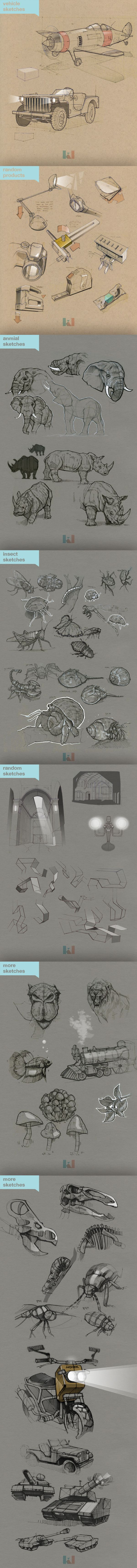 Sketches by Kidong Kwon, via Behance