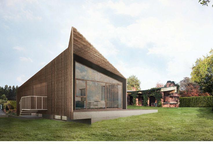 25 best ideas about case in legno su pinterest spazi for Architettura case