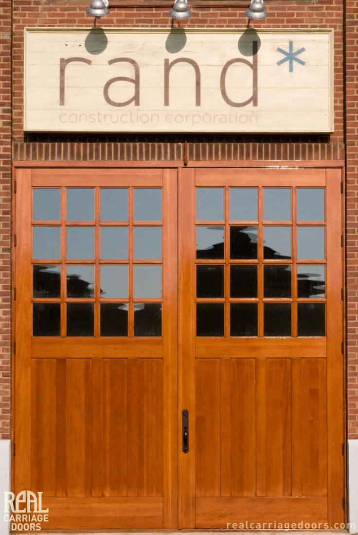 1000 images about commercial projects on pinterest barn for Garage door with entry door
