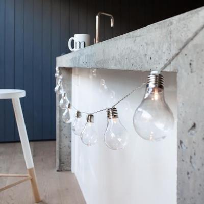 Guirlande Lumineuse Guinguette Intérieur Extérieur 10 LED Blanc Chaud à Piles - Achat / Vente Guirlande Lumineuse - Cdiscount