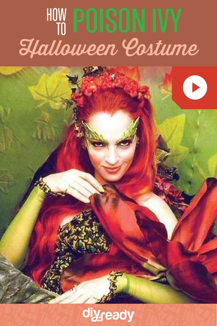 Awesome DIY Poison Ivy Costume | The Perfect Halloween Party Costume For Teens by DIY Ready at http://diyready.com/diy-poison-ivy-costumeIvy Costume - leaves