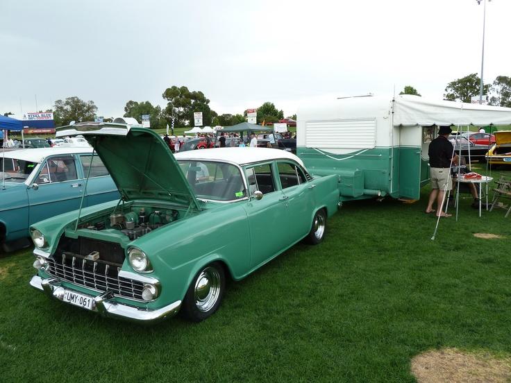 """1961 GM Holden """"EK"""" with matching caravan"""