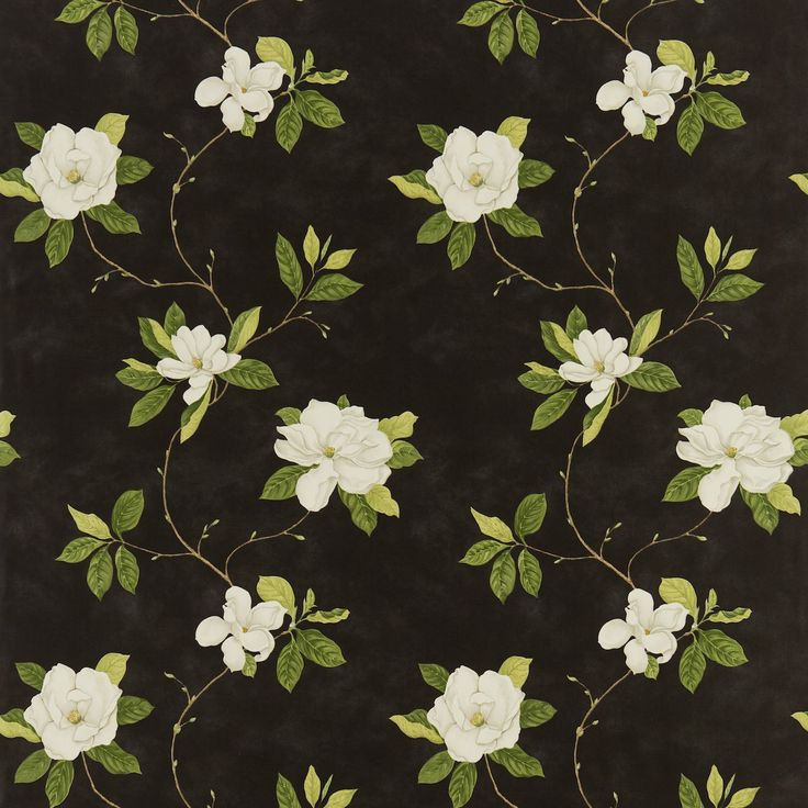 Sweet bay Fabric | Parchment Flowers Fabrics Collection | Sanderson Fabric