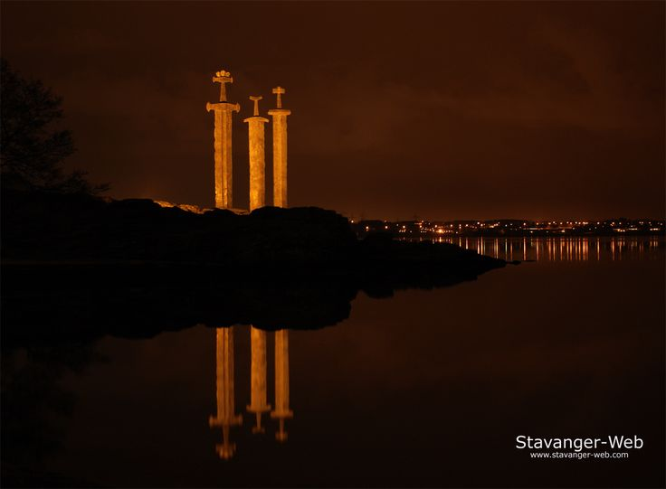 Sverd i fjell (English: Swords in Mountain) is a commemorative monument located at the Hafrsfjord fjord, just outside the city of Stavanger in Norway.