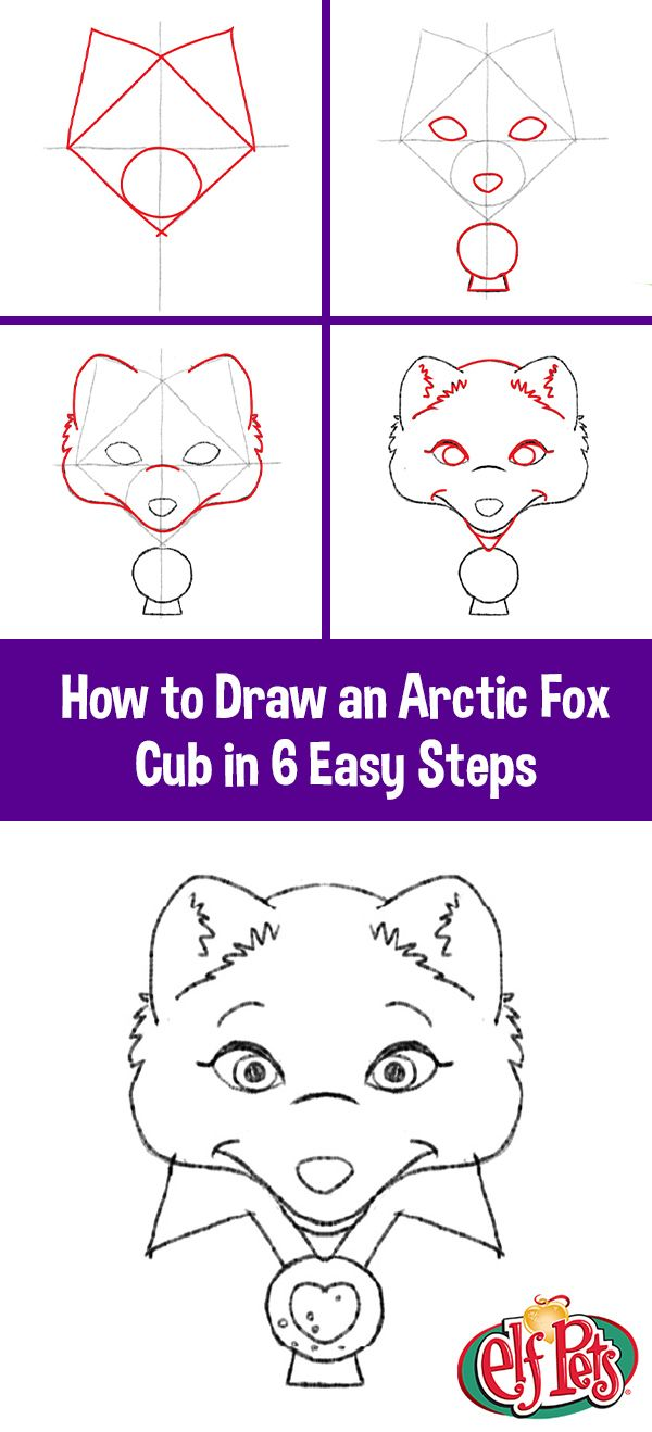 Step By Step Instructions How To Draw The Elf Pets The Elf On The Shelf Elf Pets Arctic Animals North Pole Animals