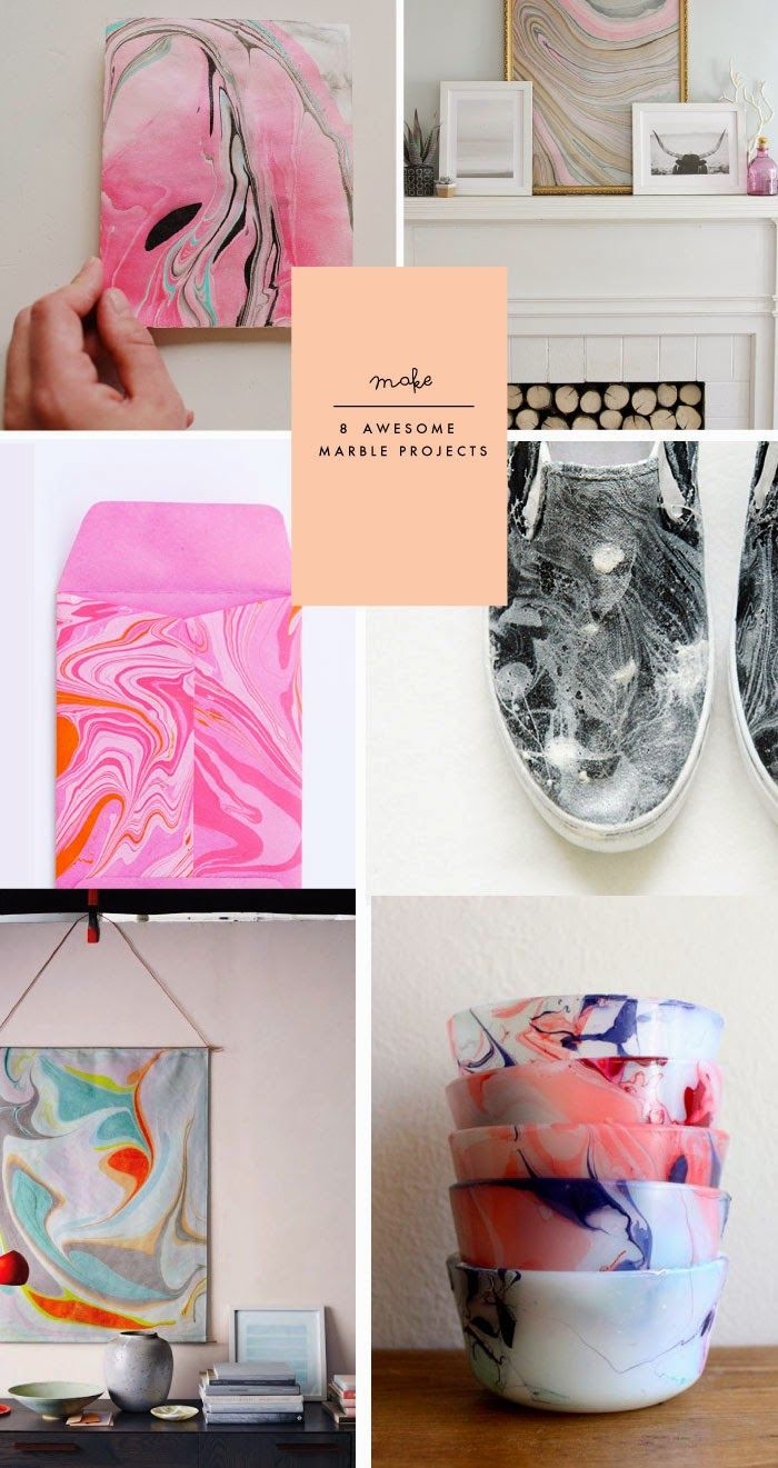 Let your creativity swirl with these fabulous marbling #DIYs.