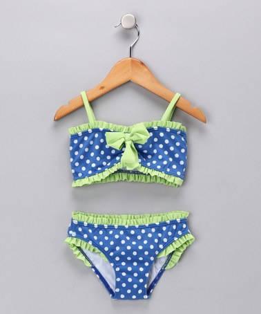 Take a look at this Blue Connect the Dots Bikini - Infant & Toddler by Azul Swimwear on #zulily today!