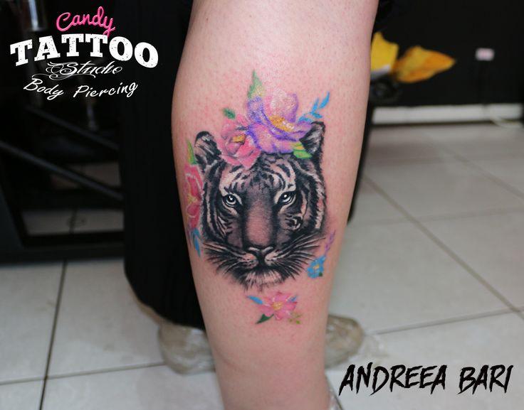 tattoo tiger girl leg constanta ideas idei tattoo