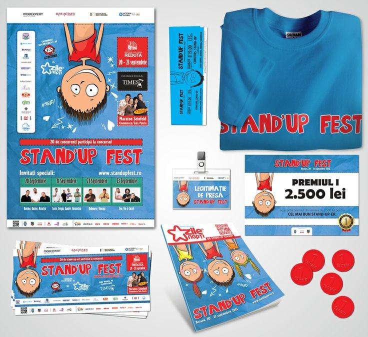 Stand up Fest Brasov Branding