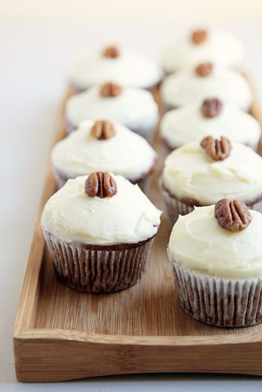 Carrot Cupcakes With Cream Cheese Frosting: Carrot cake often contains coconut, but if you're not a big coconut fan, rejoice: these carrot cupcakes with cream cheese frosting have no coconut flakes. The moist cupcakes practically dissolve upon biting into them.