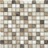 Faber 12-in x 12-in Spanish Blend Marble Mosaic Natural Stone Wall Tile