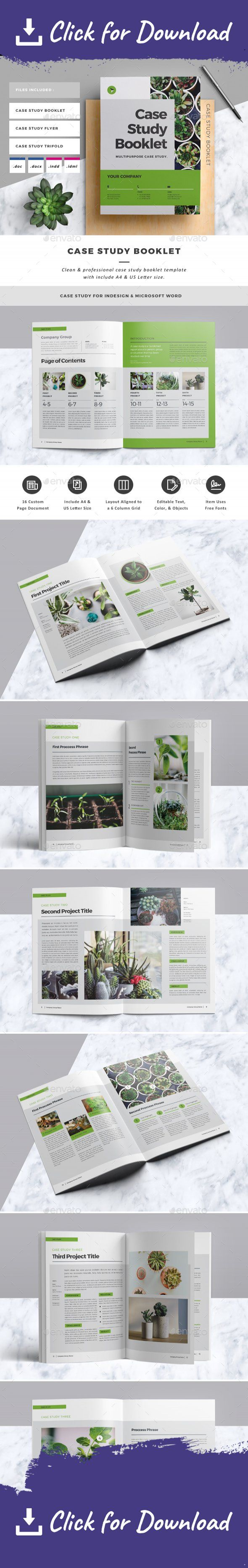 a4, agency, annual report, booklet, brief, brochure, business, case study, catalog, clean, corporate, creative, design, doc, editorial, flyer, indesign, informational, marketing, multipurpose, newsletter, portfolio, presentation, professional, project, report, swiss, template, word, word file Case Study Booklet Template. This layout is suitable for any project purpose. Very easy to use and customise.   ................................................   Features :   - 2 sizes: A4 & US...
