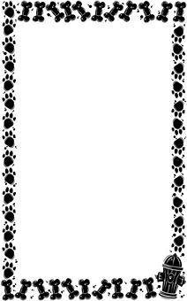 Free Dog Borders | Art Border03