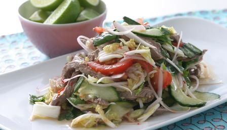 Thai beef salad - seems more or less authentic recipe