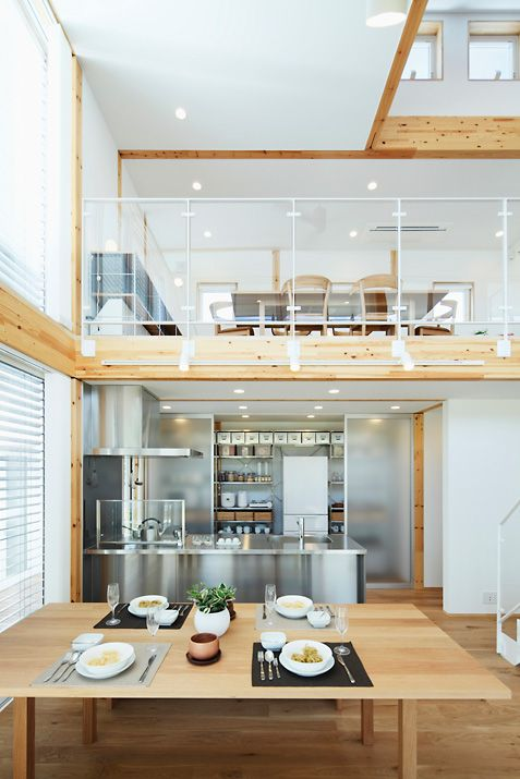 silver kitchen and wooden floor #entresol