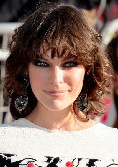 Best 25 Curly Bob Bangs Ideas On Pinterest Short Wavy