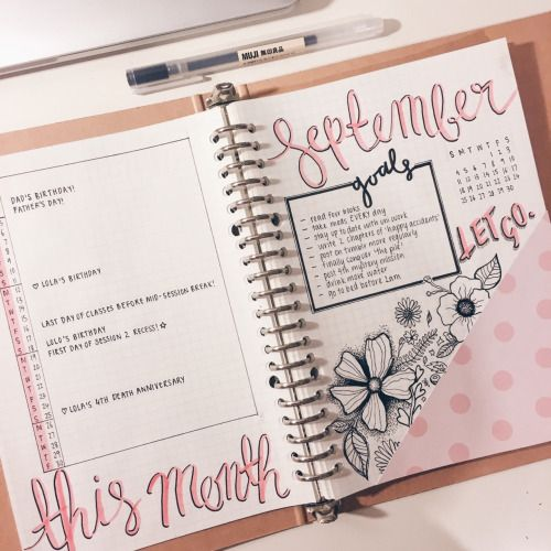 "the-girlygeek: "" I feel like this isn't too shabby for my first 'proper' month of bullet journaling. Just looking at it makes me feel happy :))) """
